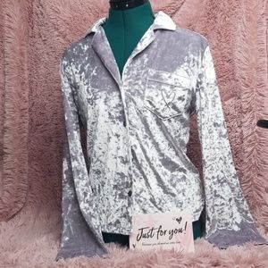 V.S. crushed velvet night shirt